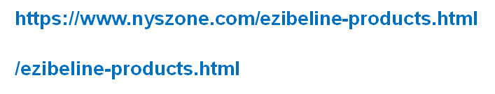 An example of the canonical URL