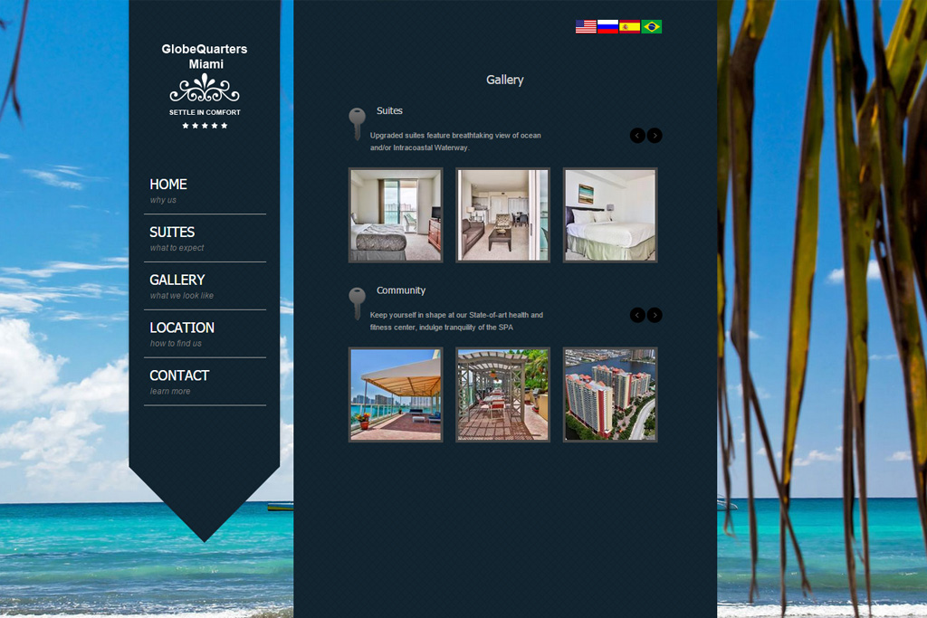 Travel/Hotel website sample